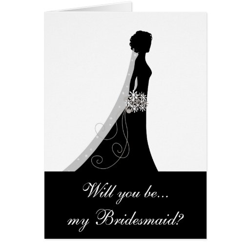 will you be my bridesmaid note cards zazzle. Black Bedroom Furniture Sets. Home Design Ideas