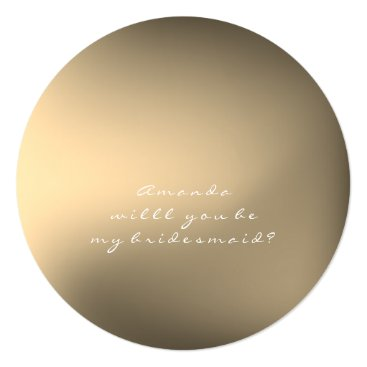 McTiffany Tiffany Aqua Will You Be My Bridesmaid Ombre Ball Sepia Gold Card