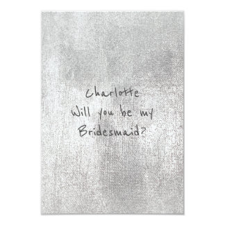 Will You Be My Bridesmaid Pastel Painted Silver Card