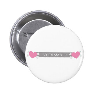 Will you be my bridesmaid? pinback button