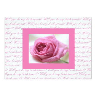 Will you be my bridesmaid pink white card