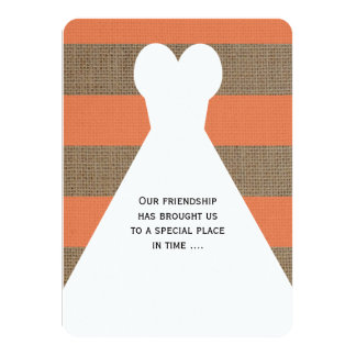 Will You Be My Bridesmaid Poem Wedding Gown Coral Card