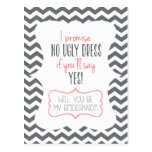 WILL YOU BE MY BRIDESMAID? | POSTCARD