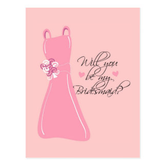 """Will you be my Bridesmaid?"" Postcards"