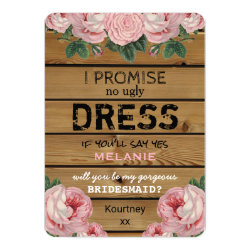 Will you be my Bridesmaid | Rustic Bridesmaid Card