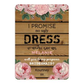 Will you be my Bridesmaid | Rustic Bridesmaid Card