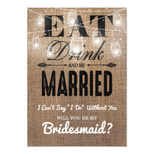 Will you be my Bridesmaid? | Rustic Bridesmaid Cards