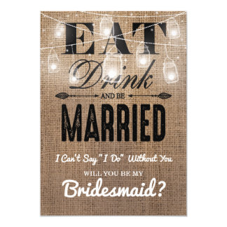 Will you be my Bridesmaid? | Rustic Bridesmaid Card