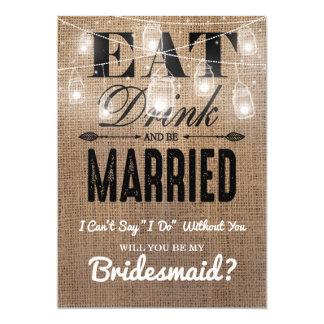 Will you be my Bridesmaid? | Rustic Bridesmaid Invitation