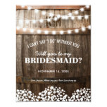 Will You Be My Bridesmaid   Rustic Country Chic Card at Zazzle