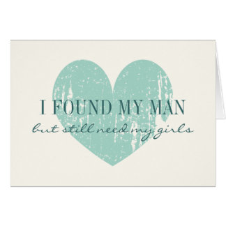 Will you be my bridesmaid teal heart request cards