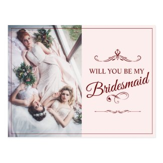 Will you be my bridesmaid? Three lying bridesmaids Postcard