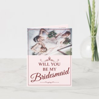 Will you be my bridesmaid? Three lying bridesmaids Thank You Card