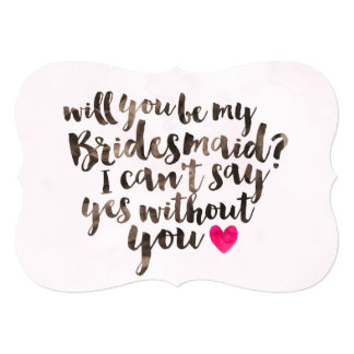Will You be my Bridesmaid Watercolor Card