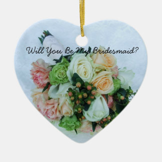 Will You Be My Bridesmaid Wedding Bouquet Ornament