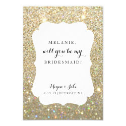 Will You Be My Bridesmaid -Wedding Day Fab Glitter Card