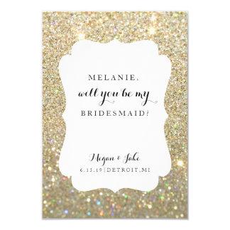 Will You Be My Bridesmaid -Wedding Day Fab Glitter Invitation