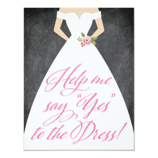 Will You Be My Bridesmaid Yes to the Dress Card