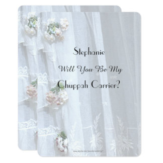 Will You Be My Chuppah Carrier Vintage Lace Invite