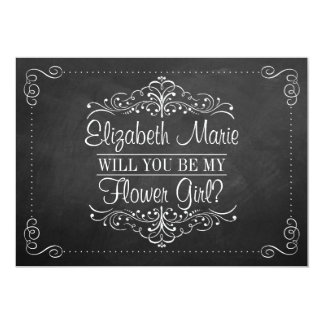 Will You Be My Flower Gir? Ornate Chalkboard Cards