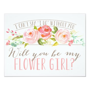 NBpaperco Will You Be My Flower Girl | Bridesmaid Card