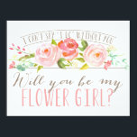 """Will You Be My Flower Girl   Bridesmaid Invitation<br><div class=""""desc"""">Ask your flower girl with a beautiful card that says &quot;I can&#39;t say &#39;I do&#39; without you.&quot; This card features lovely watercolored flowers and a mix of modern typography. Make it easy for them to say yes with this beautiful card. com com. com Stop by the shop today to see...</div>"""