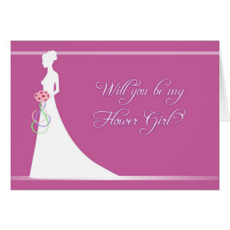 Will You Be My Flower Girl? Stationery Note Card