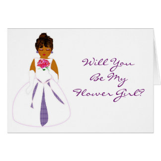 """""""Will You Be My Flower Girl"""" Card - Customizable Greeting Card"""