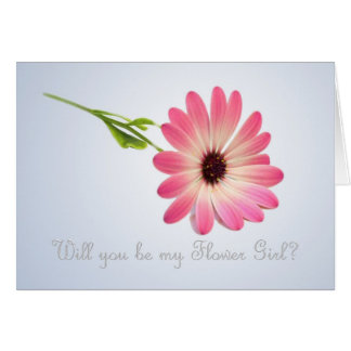 Will you be my Flower Girl card. Stationery Note Card
