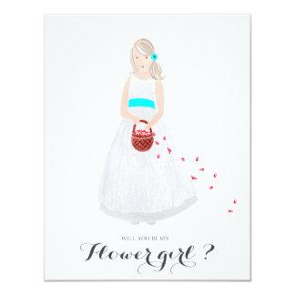 Will you be my flower girl custom card