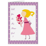 will you be my flower girl greeting card