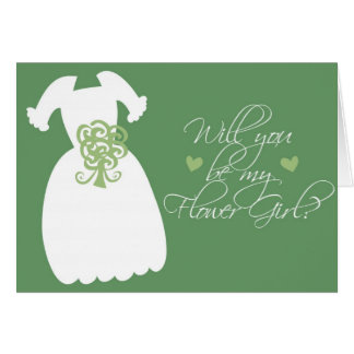 """Will you be my Flower Girl?"" Greeting Card"