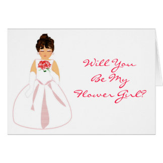"""Will You Be My Flower Girl I""- Customizable Greeting Card"