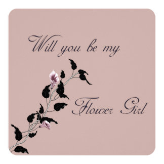 Will You Be My Flower Girl Pink Invitation