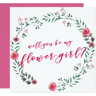 Will you be my Flower Girl | proposal card