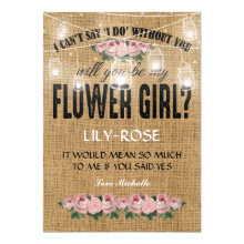 Will you be my Flower Girl? | Rustic Burlap Cards