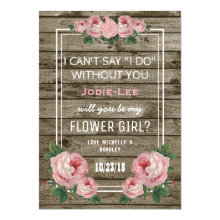 Will you be my Flower Girl | Rustic Vintage Cards