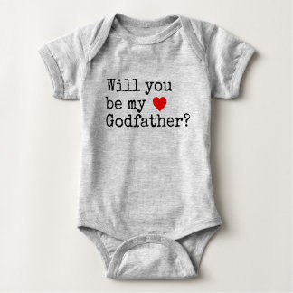 will you be my godfather baby bodysuit