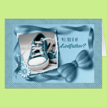 Will You Be My Godfather - Baby Boy Blue Card