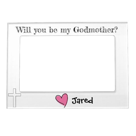 Will You Be My Godmother Magnetic Photo Frame Zazzlecom