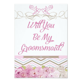 Will You Be My Groomsmaid Invitation