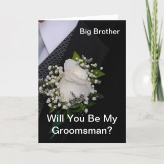 Will You Be My Groomsman Big Brother Invitation