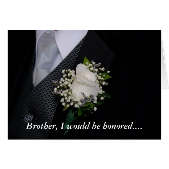 Will You Be My Groomsman Brother Card