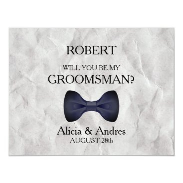Wedding Themed Will you be my Groomsman? Card