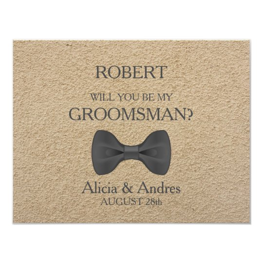 Will you be my groomsman card zazzle will you be my groomsman card junglespirit Images