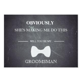Will  You  Be My Groomsman? Card