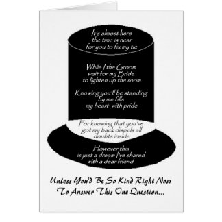 """Will You Be My Groomsman"" Card Cards"