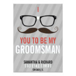 "Will you be my Groomsman Geek Glasses invite 5"" X 7"" Invitation Card"
