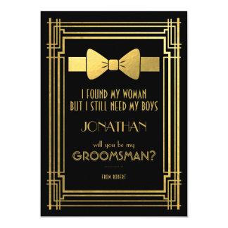 Will You Be My Groomsman | Great Gatsby Groomsmen Card