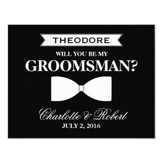 Will you be my Groomsman? | Groomsman 4.25x5.5 Paper Invitation Card